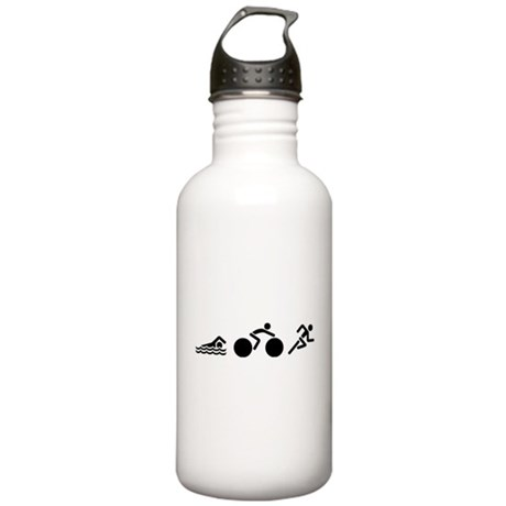 Swim Bike Run Icons Stainless Water Bottle 1.0L