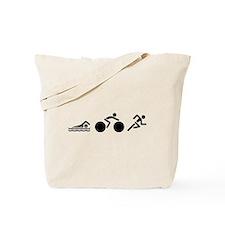 Swim Bike Run Icons Tote Bag