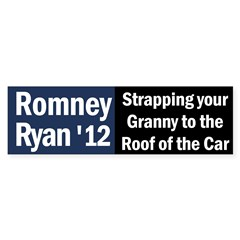 Romney-Ryan: Strapping Granny Bumper Sticker