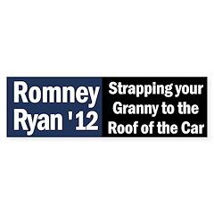 Romney-Ryan: Strapping Granny Bumper Sticker