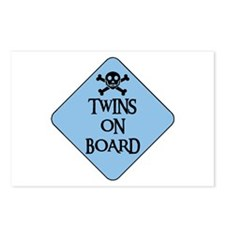 WARNING: TWINS ON BOARD Postcards (Package of 8)