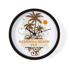 Natadola Beach Fiji Wall Clock