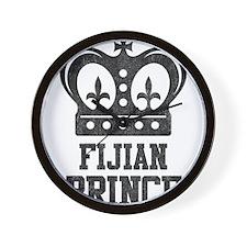 Fijian Prince Wall Clock