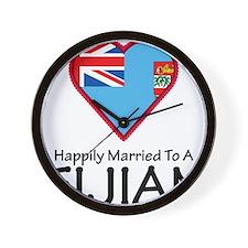 Married Fijian Wall Clock