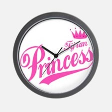 Fijian Princess Wall Clock