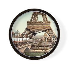 Vintage Eiffel Tower Wall Clock
