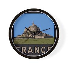 France Mont St. Michel Wall Clock