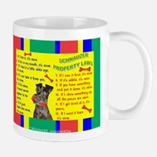 Property Laws -Schnauzer,Black Mugs