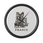 Vintage France Large Wall Clock