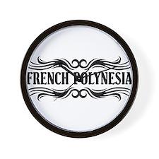 Tribal French Polynesia Wall Clock