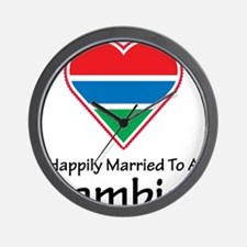 Happily Married Gambian Wall Clock
