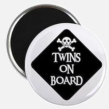 WARNING: TWINS ON BOARD Magnet