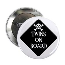 WARNING: TWINS ON BOARD Button