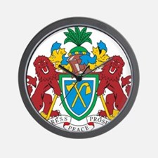 Gambia Coat Of Arms Wall Clock