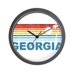 Retro Palm Tree Georgia Wall Clock