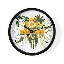 Palm Tree Georgia Wall Clock