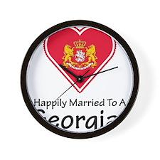 Happily Married Georgian Wall Clock
