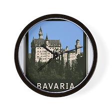 Bavaria Neuschwanstein Wall Clock