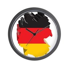 3D Map Of Germany Wall Clock
