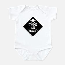 WARNING: TWINS ON BOARD Infant Creeper