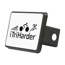 iTriHarder triathlon motto Hitch Cover