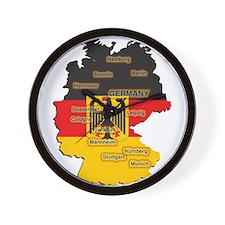 Germany Map Wall Clock