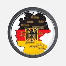 Germany Map Wall Clock
