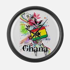 Flower Ghana Large Wall Clock