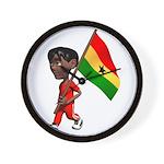 3D Ghana Wall Clock