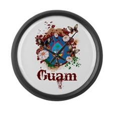 Butterfly Guam Large Wall Clock