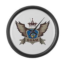 Guam Emblem Large Wall Clock