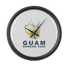 Guam Drinking Team Large Wall Clock