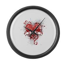 Heart Guam Large Wall Clock