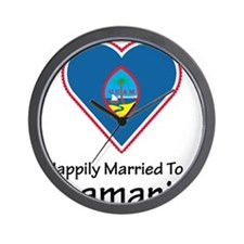 Happily Married Guamanian Wall Clock