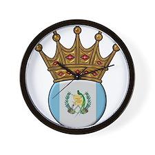 King Of Guatemala Wall Clock