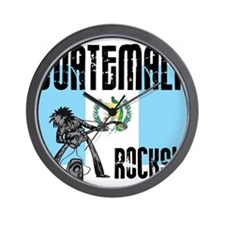 Guatemala Rocks Wall Clock