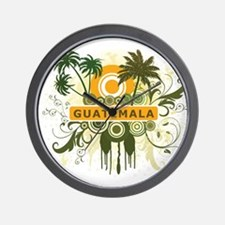 Palm Tree Guatemala Wall Clock