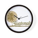 Palm Tree Guatemala Wall Clock