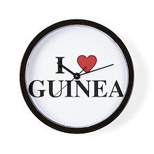 I Love Guinea Wall Clock