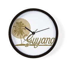 Palm Tree Guyana Wall Clock
