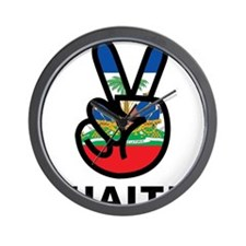 Peace Haiti Wall Clock