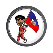 3D Haiti Wall Clock