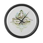 Buddha Hong Kong Large Wall Clock