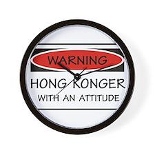 Attitude Hong Konger Wall Clock