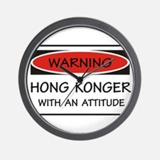 Attitude Hong Konger Wall Clock