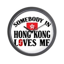 Somebody In Hong Kong Wall Clock