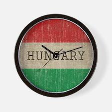 Vintage Hungary Flag Wall Clock