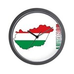 Map Of Hungary Wall Clock