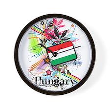 Flower Hungary Wall Clock