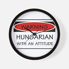 Attitude Hungarian Wall Clock